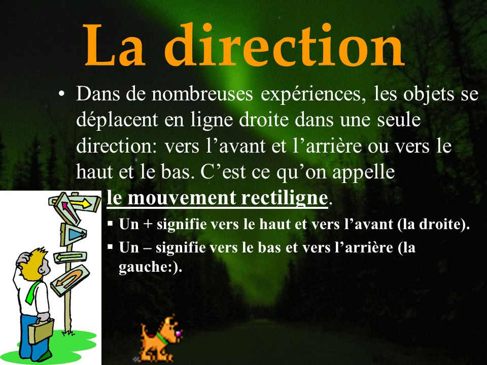 La direction
