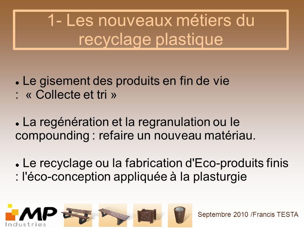 1- Les nouveaux métiers du recyclage plastique