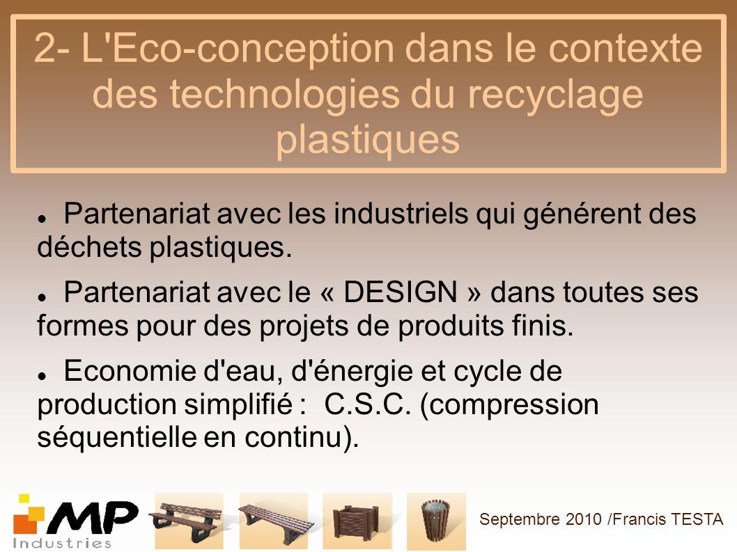 2- L Eco-conception dans le contexte des technologies du recyclage plastiques
