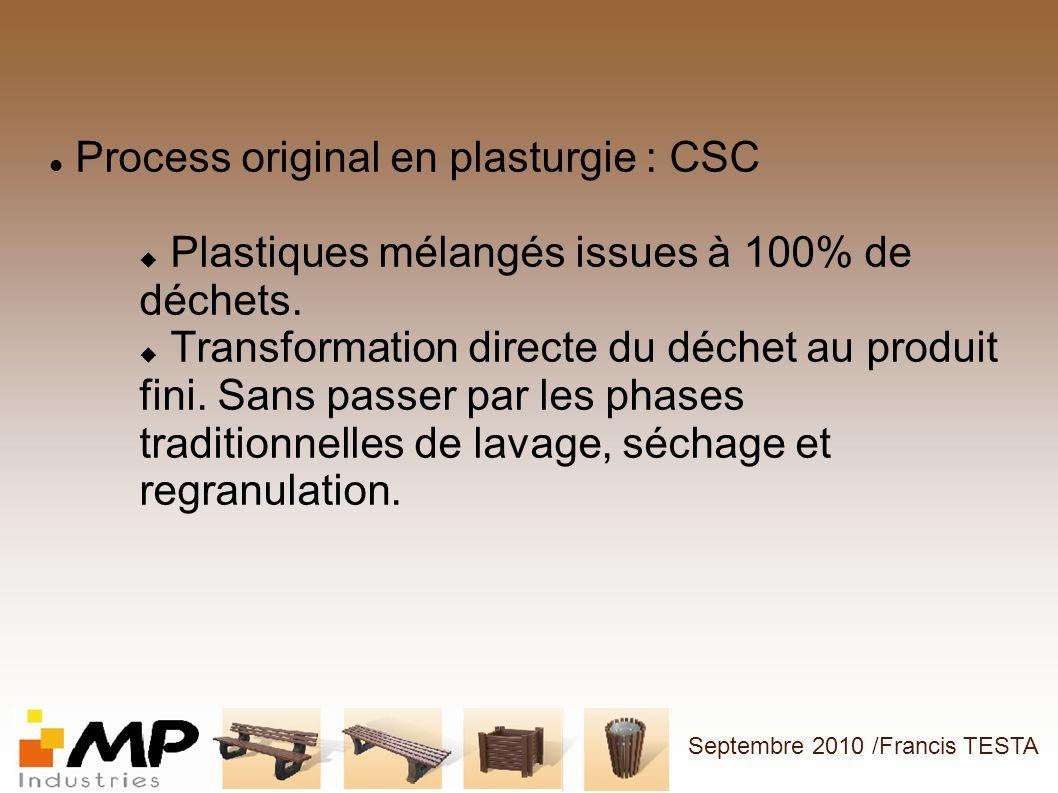Process original en plasturgie : CSC
