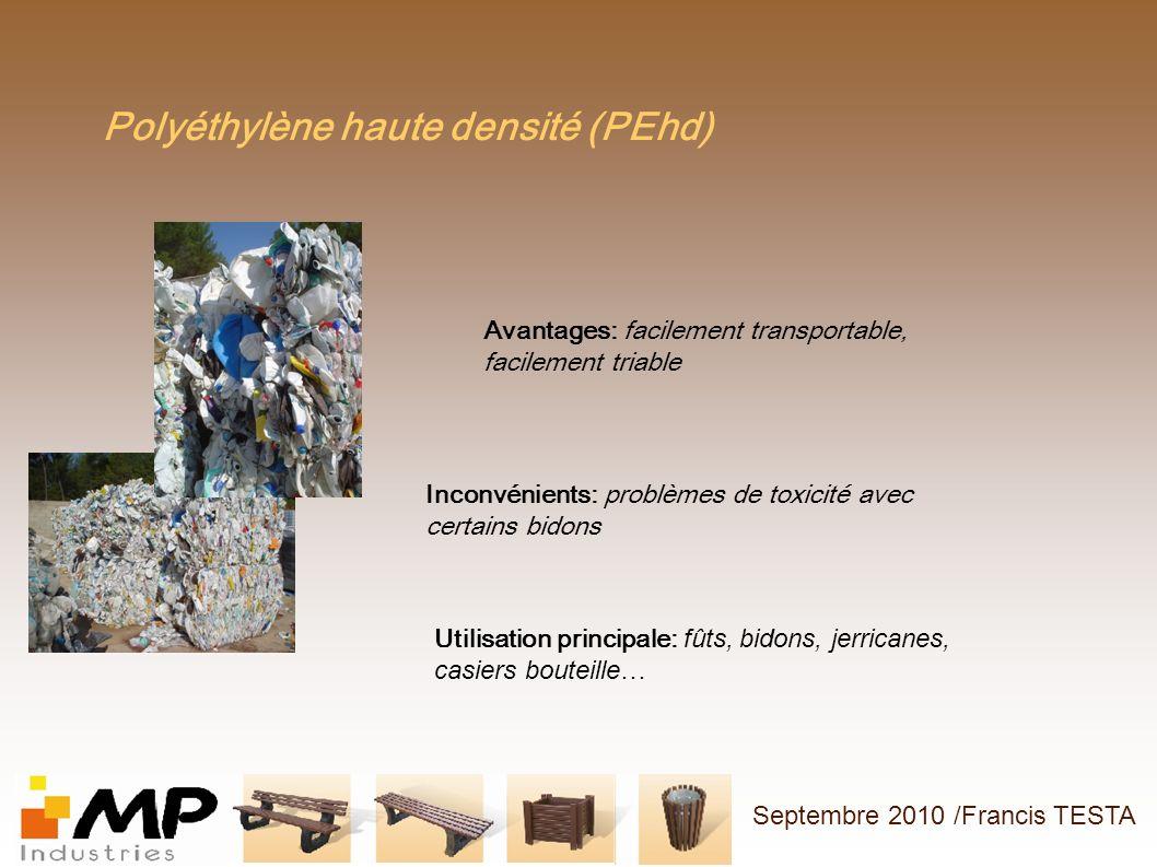 Polyéthylène haute densité (PEhd)