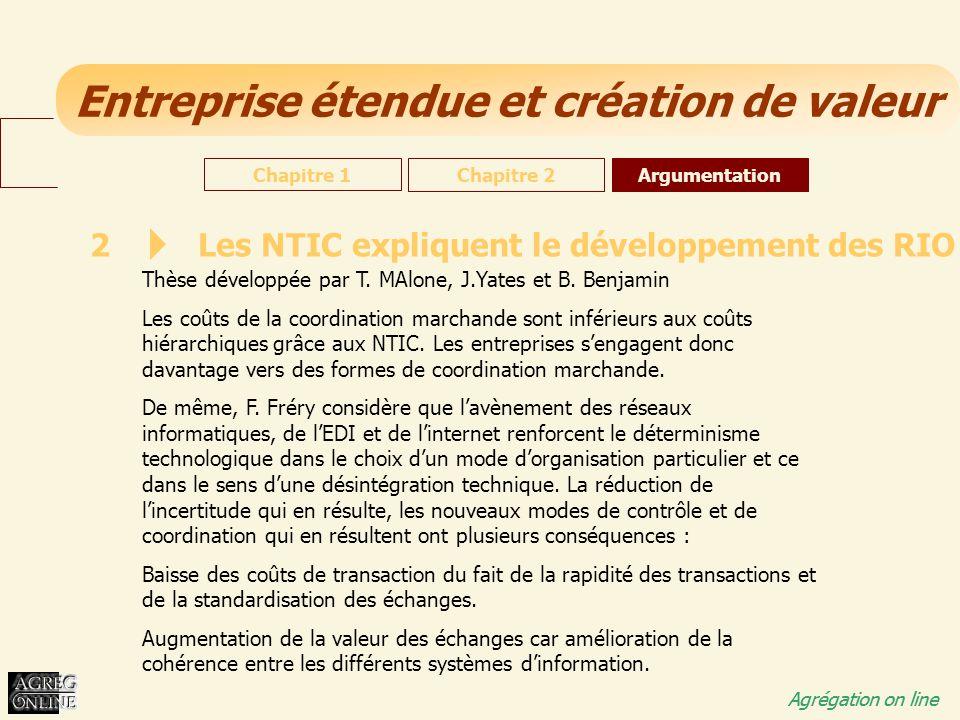 Les NTIC expliquent le développement des RIO