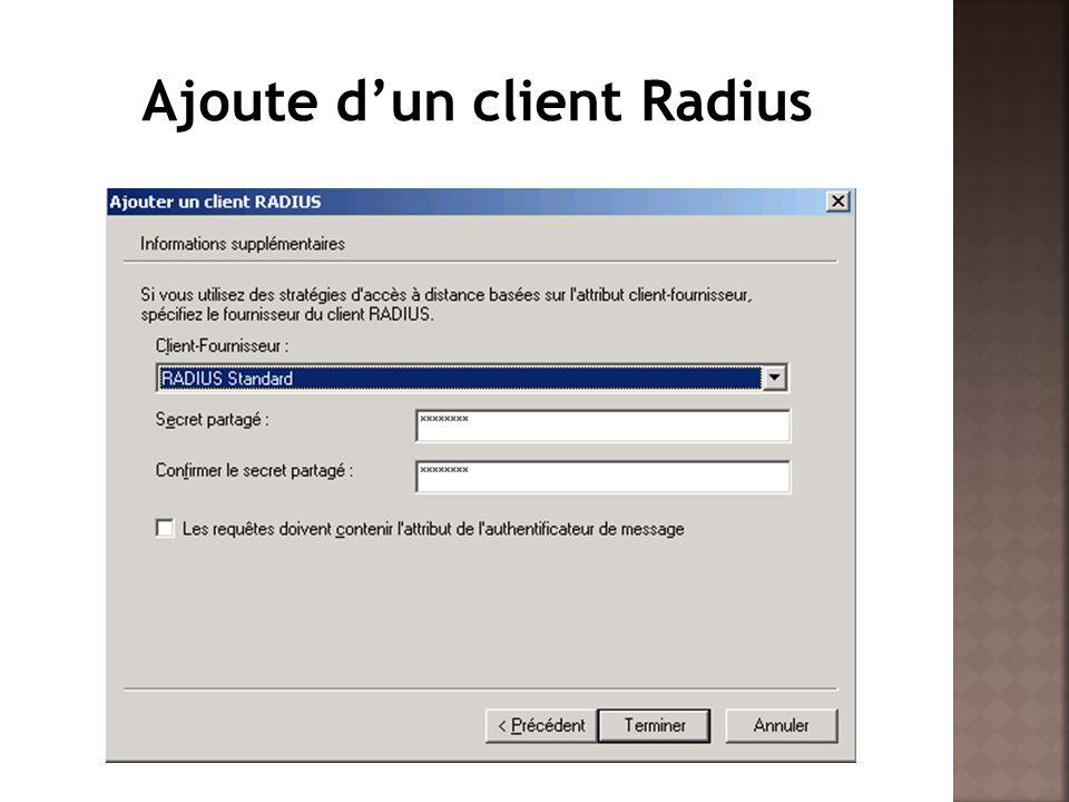 Ajoute d'un client Radius