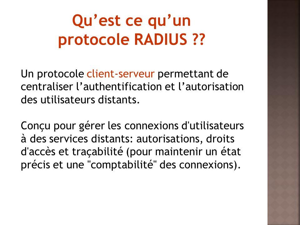 Qu'est ce qu'un protocole RADIUS