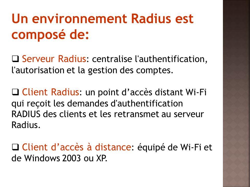 Un environnement Radius est composé de: