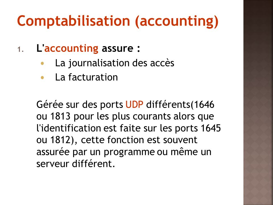 Comptabilisation (accounting)
