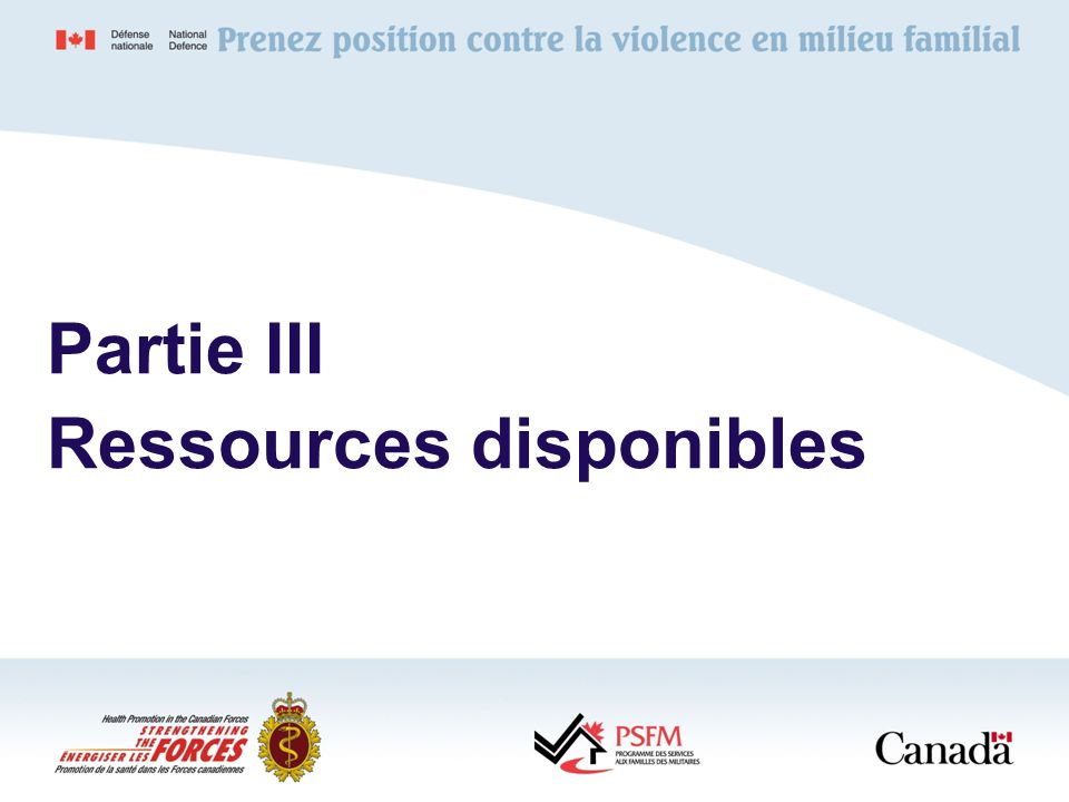 Partie III Ressources disponibles