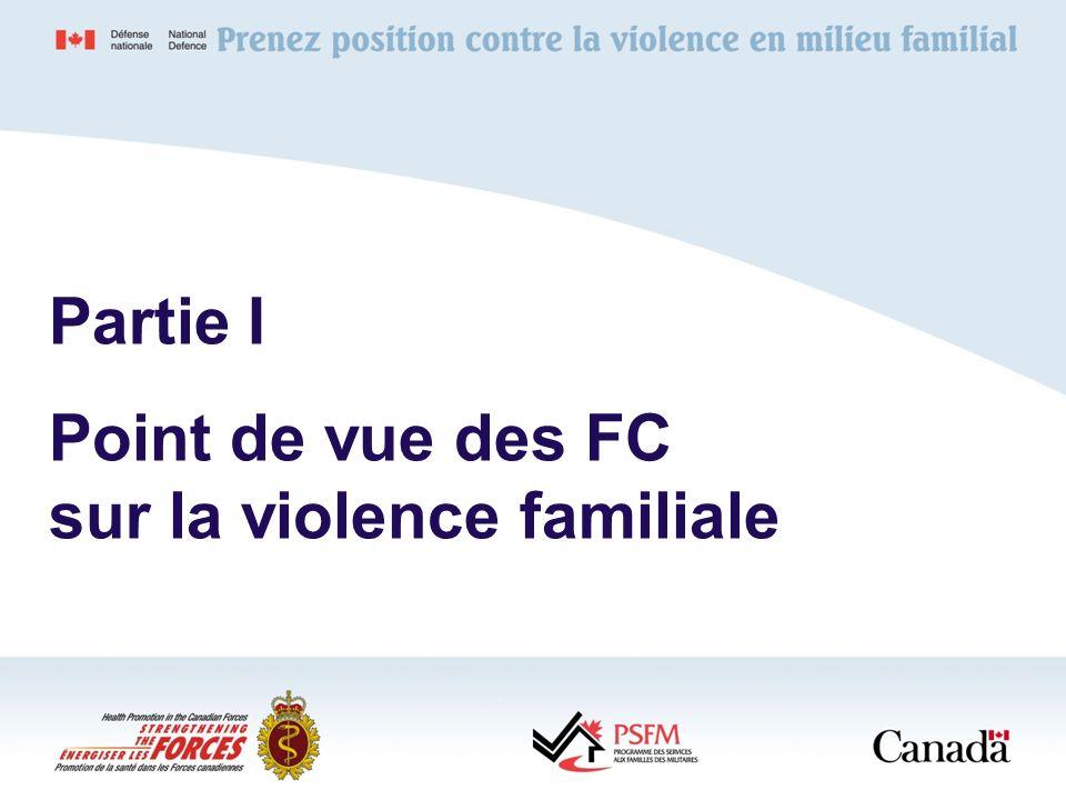Point de vue des FC sur la violence familiale