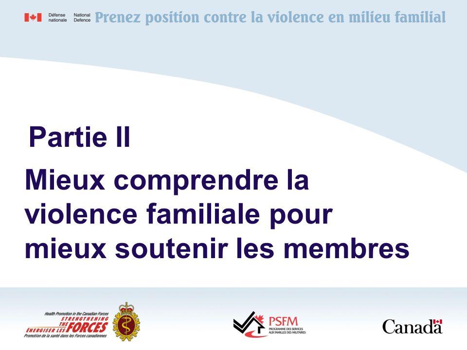 Mieux comprendre la violence familiale pour mieux soutenir les membres