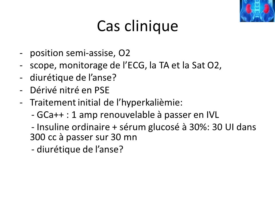 Cas clinique position semi-assise, O2