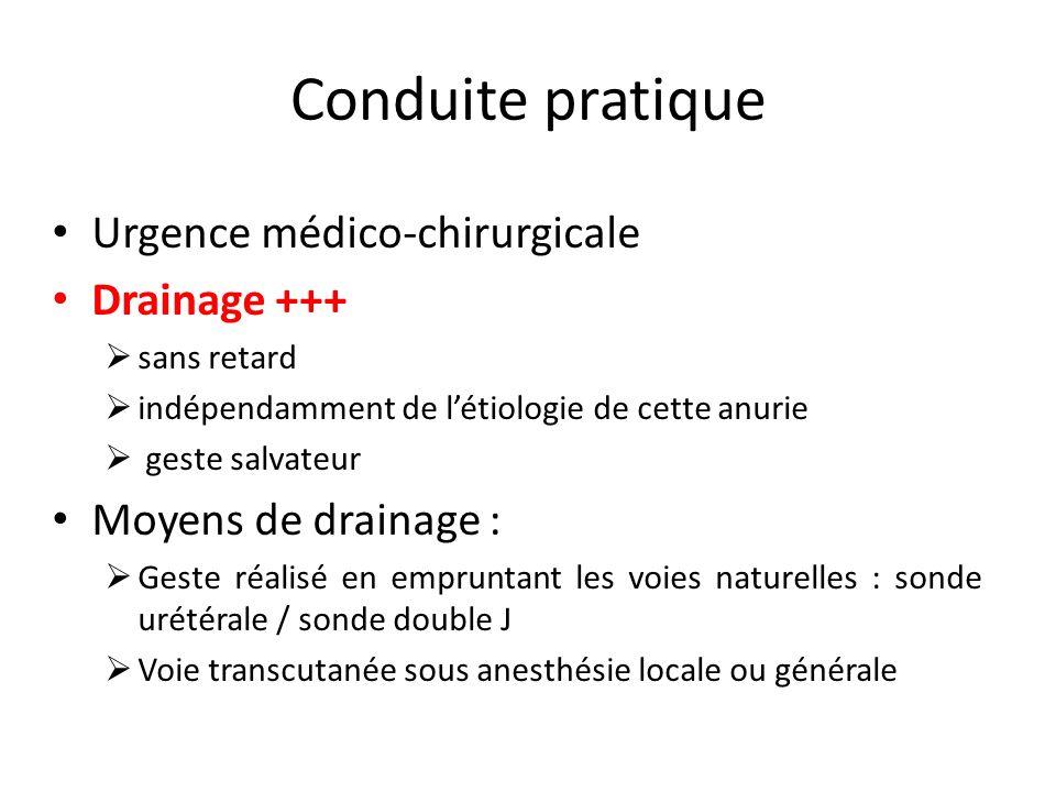 Conduite pratique Urgence médico-chirurgicale Drainage +++