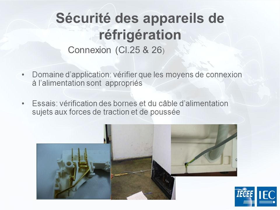 Sécurité des appareils de réfrigération