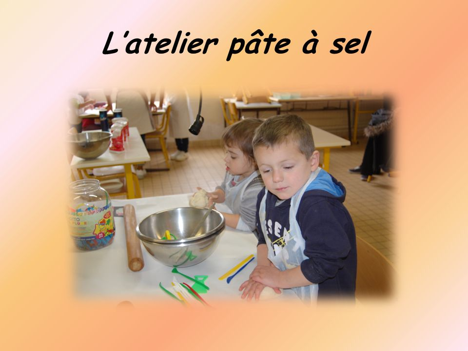 L'atelier pâte à sel
