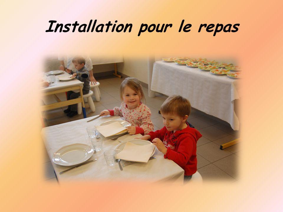 Installation pour le repas
