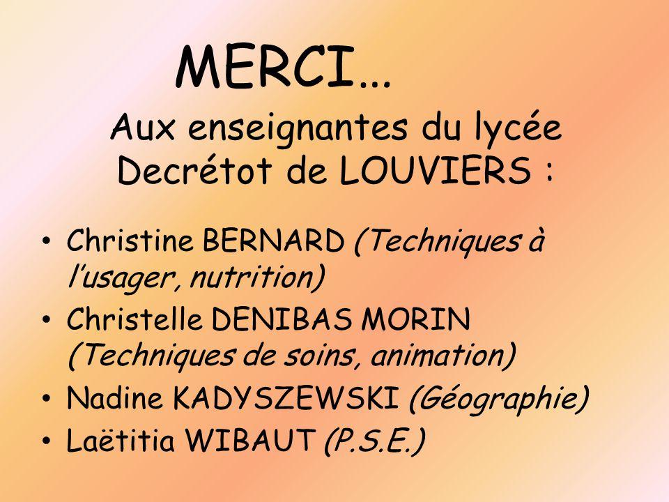 Aux enseignantes du lycée Decrétot de LOUVIERS :