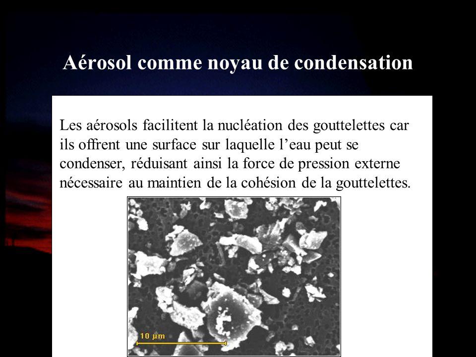 Aérosol comme noyau de condensation