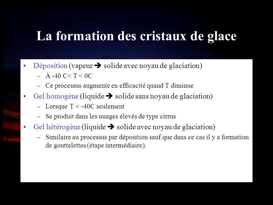 La formation des cristaux de glace