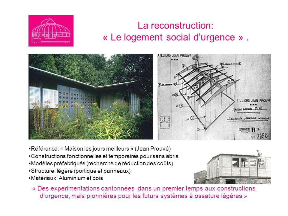 La reconstruction: « Le logement social d'urgence » .