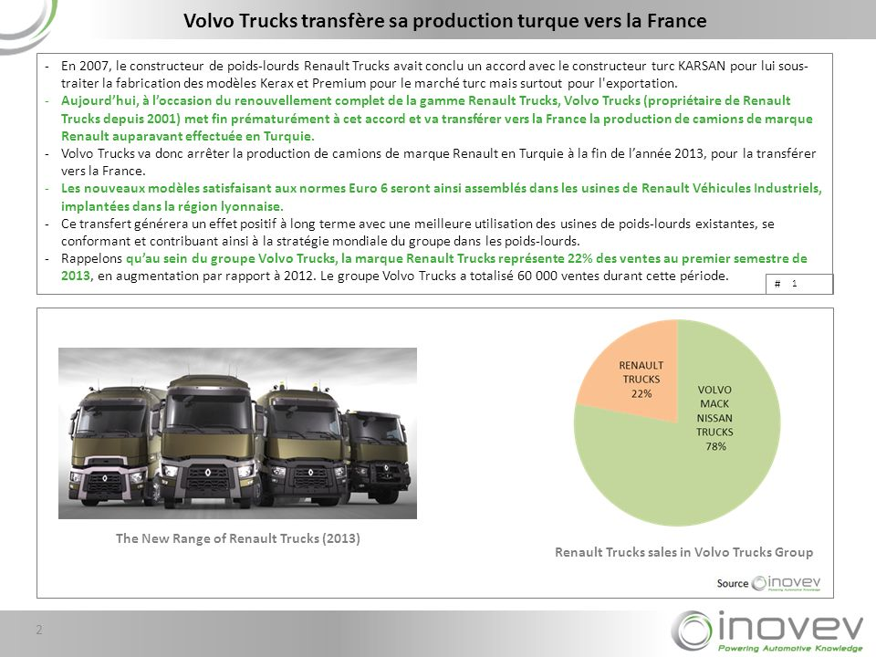 Volvo Trucks transfère sa production turque vers la France