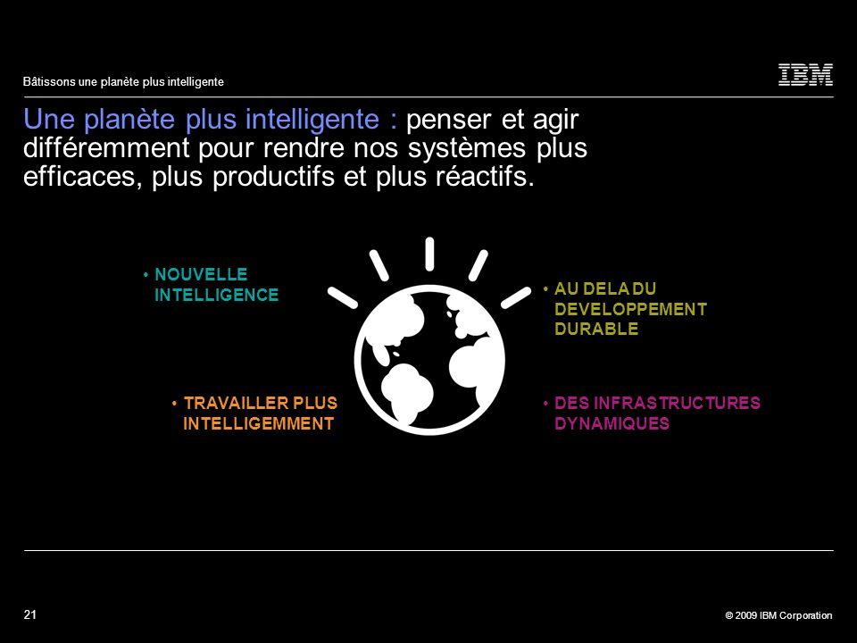 Une planète plus intelligente : penser et agir différemment pour rendre nos systèmes plus efficaces, plus productifs et plus réactifs.
