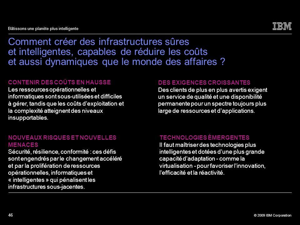 Comment créer des infrastructures sûres et intelligentes, capables de réduire les coûts et aussi dynamiques que le monde des affaires