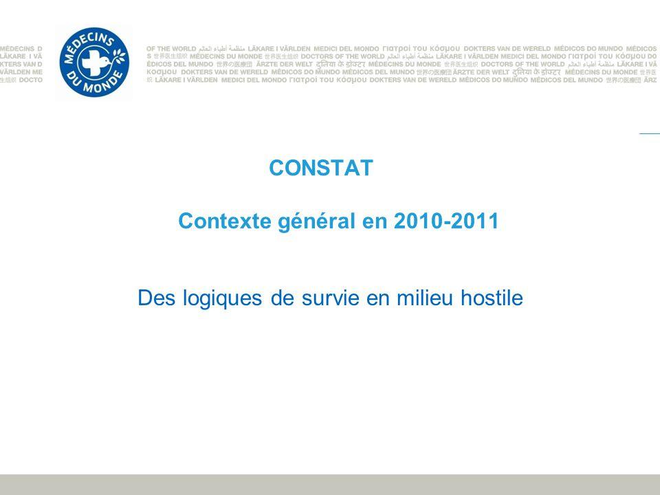 CONSTAT Contexte général en 2010-2011