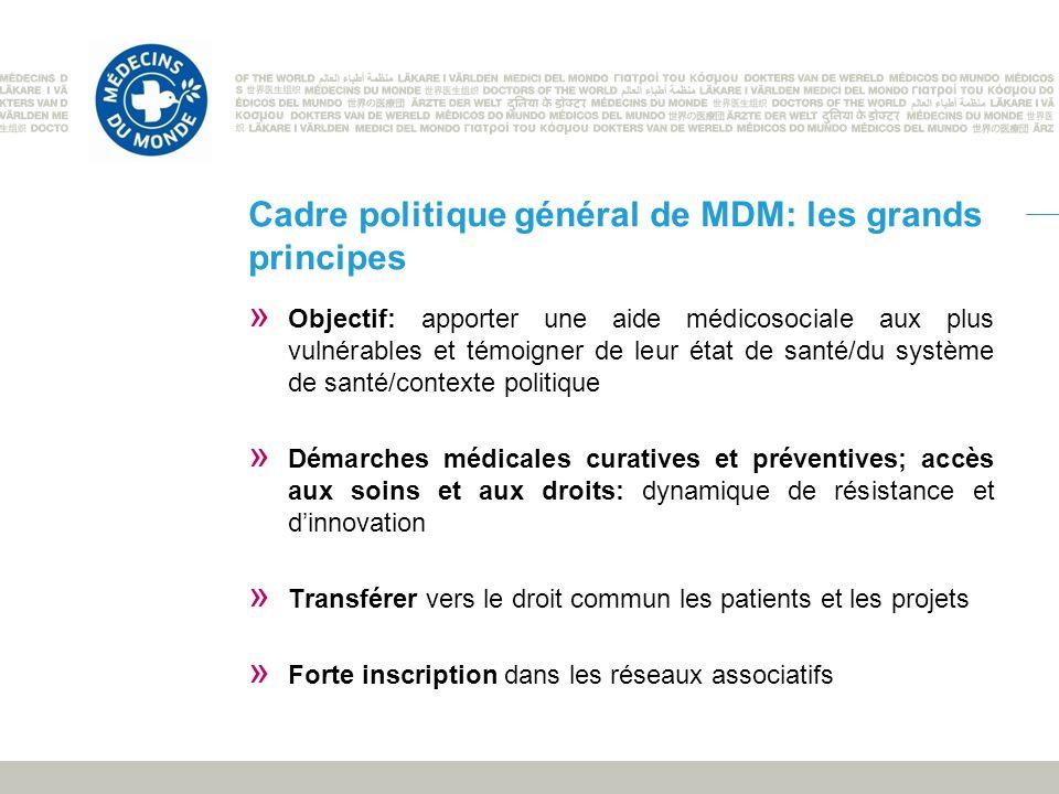 Cadre politique général de MDM: les grands principes
