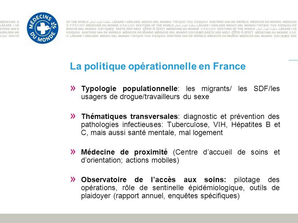 La politique opérationnelle en France