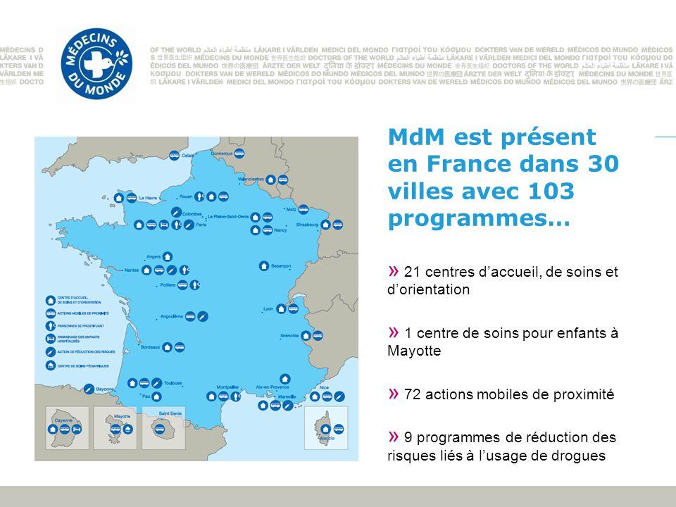 MdM est présent en France dans 30 villes avec 103 programmes…
