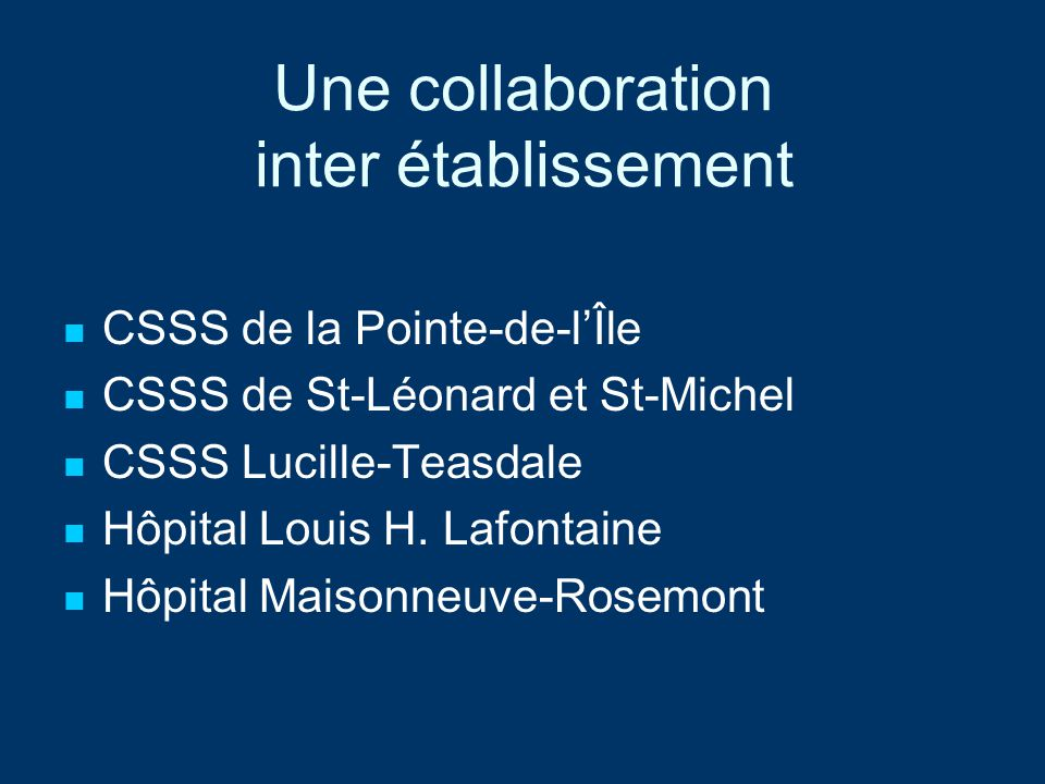 Une collaboration inter établissement