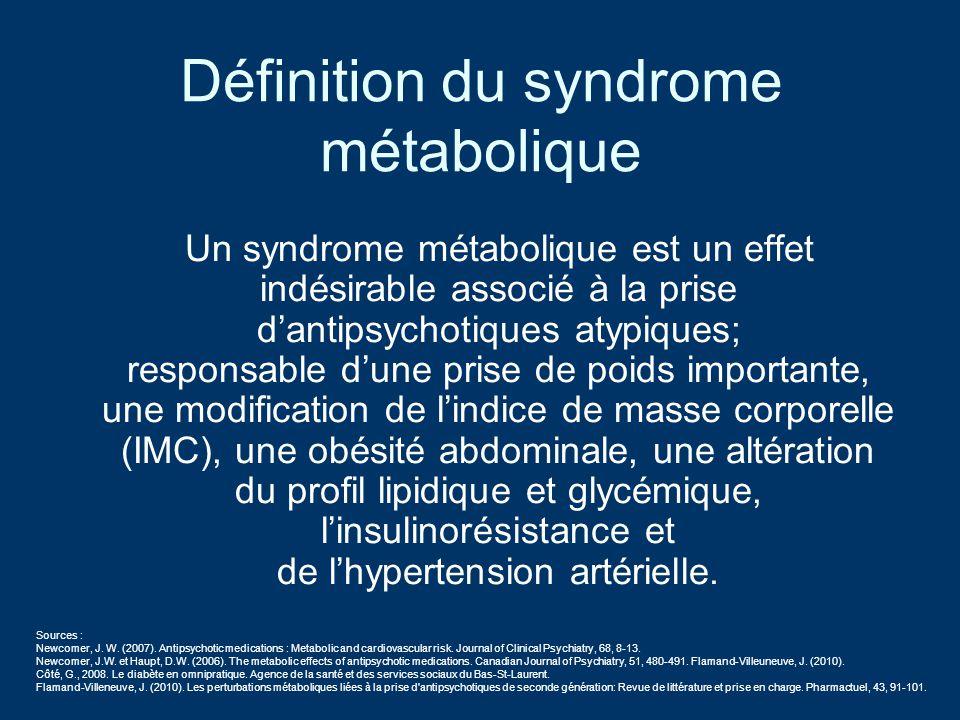 Définition du syndrome métabolique