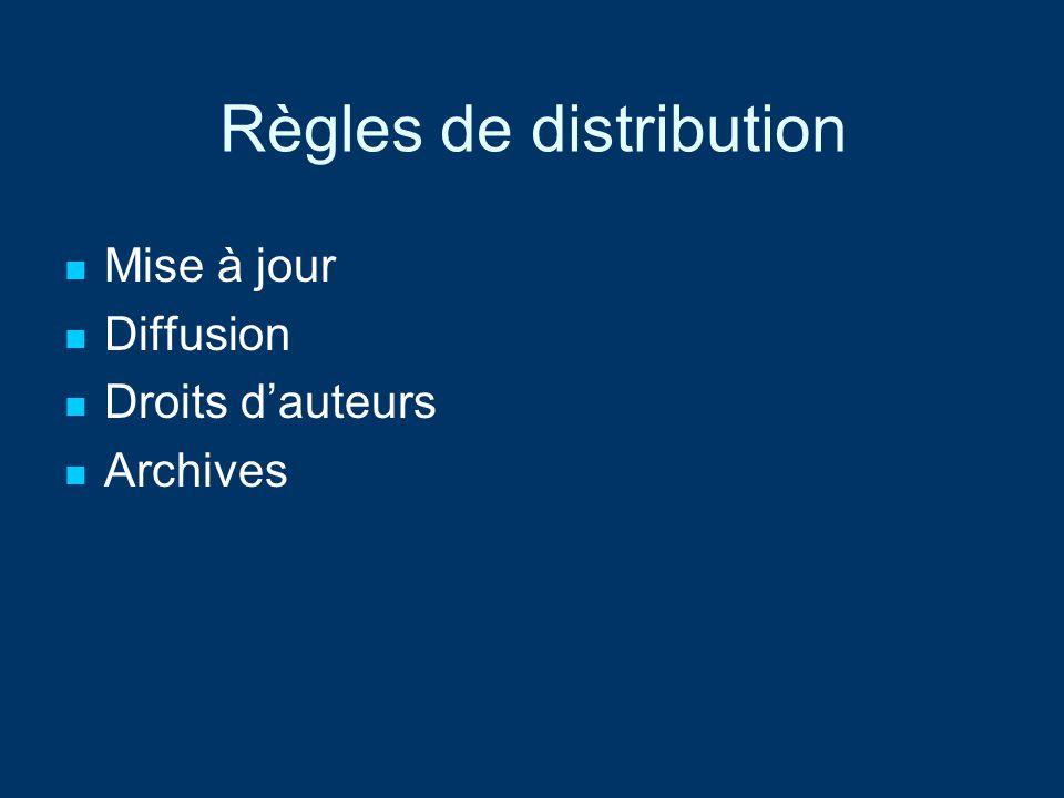 Règles de distribution