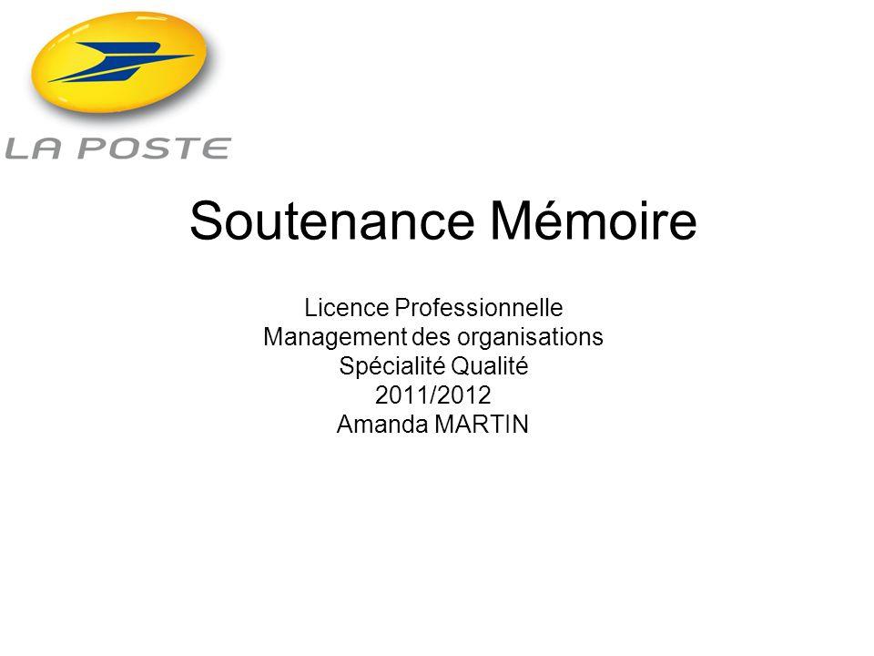 Soutenance Mémoire Licence Professionnelle
