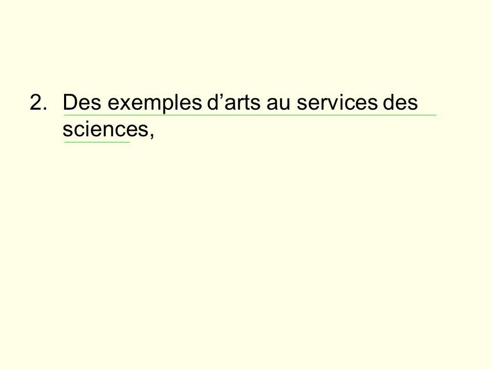 Des exemples d'arts au services des sciences,
