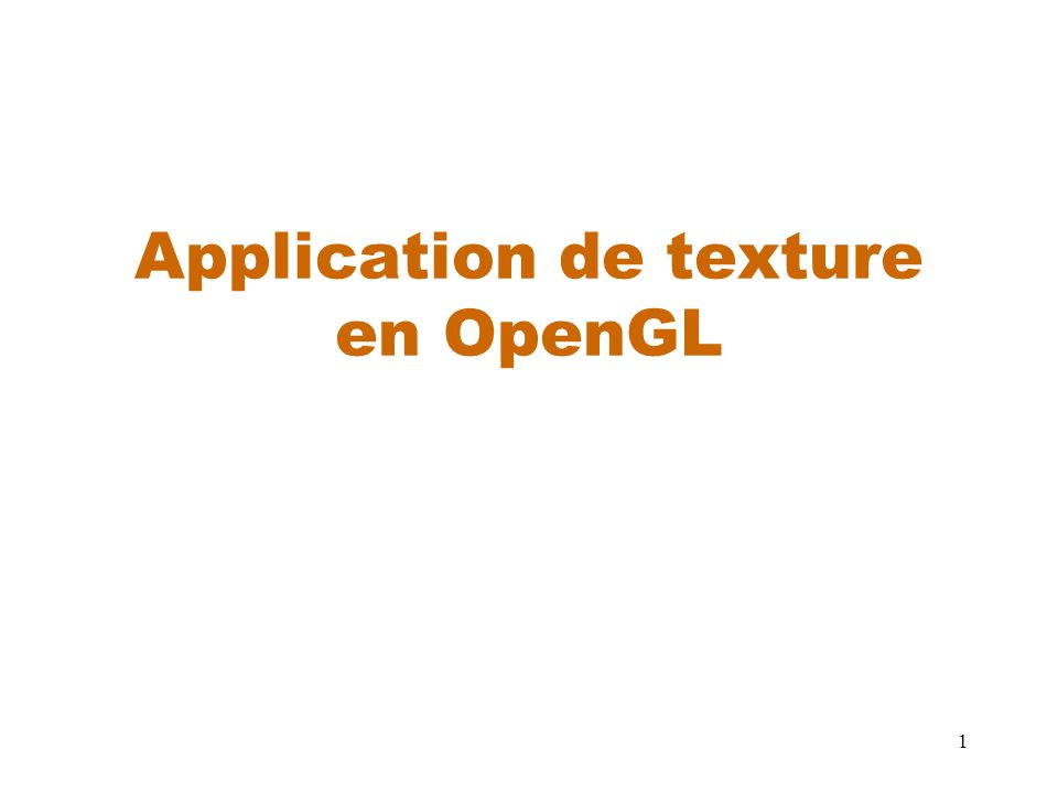Application de texture en OpenGL
