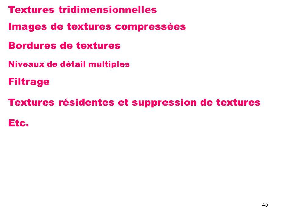 Textures tridimensionnelles