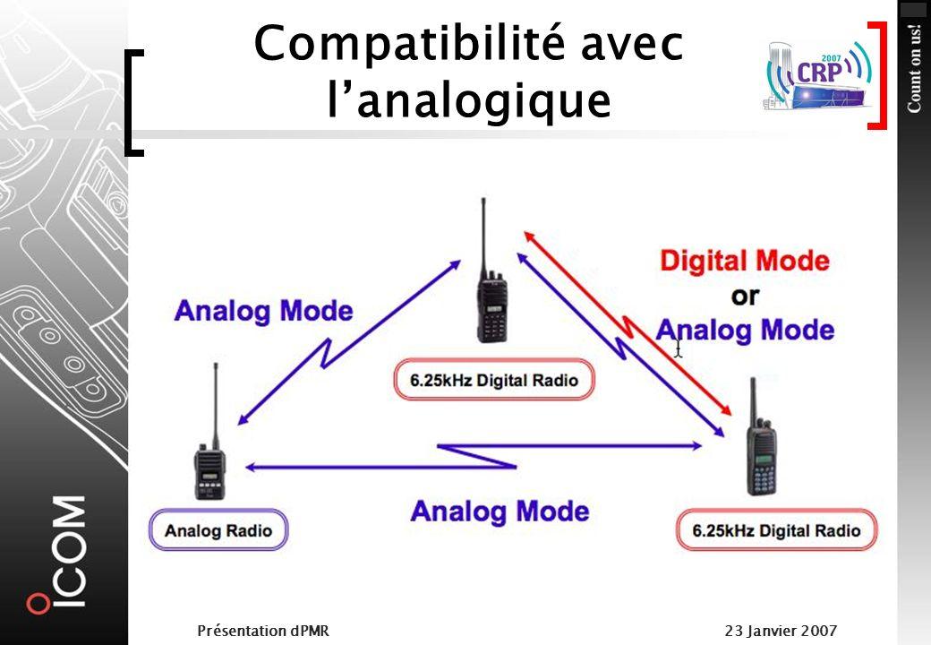 Compatibilité avec l'analogique