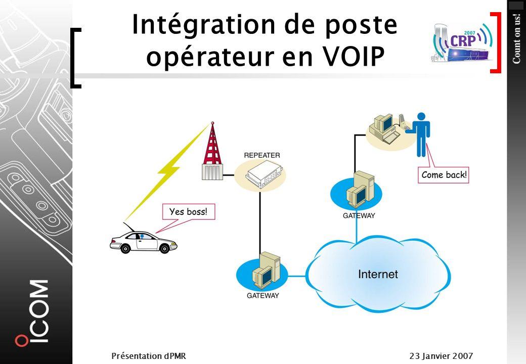 Intégration de poste opérateur en VOIP