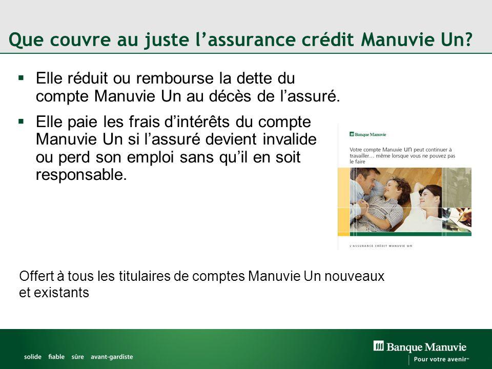 Que couvre au juste l'assurance crédit Manuvie Un