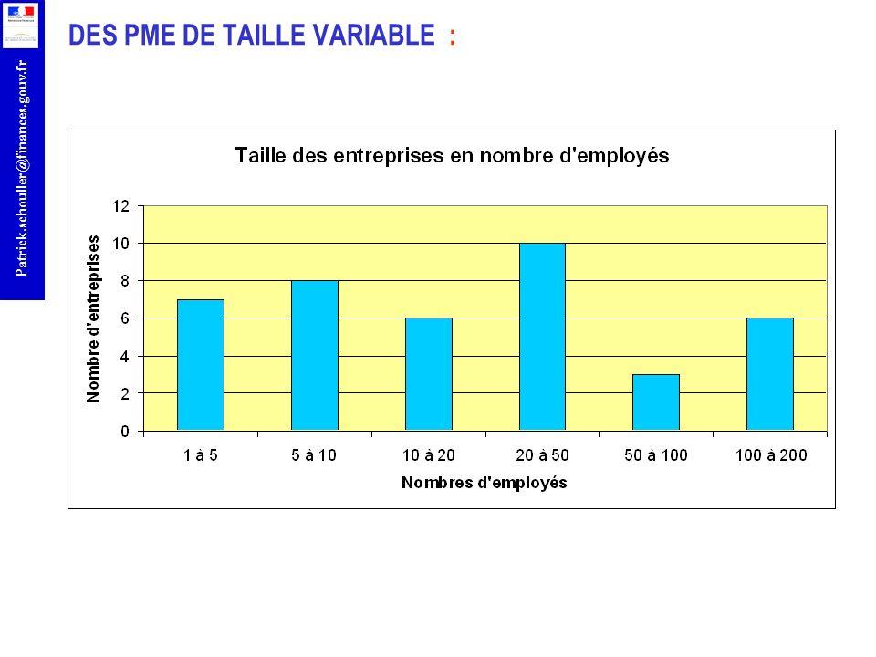 DES PME DE TAILLE VARIABLE :