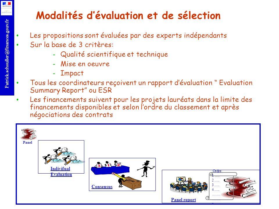 Modalités d'évaluation et de sélection