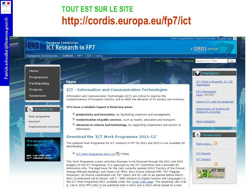TOUT EST SUR LE SITE http://cordis.europa.eu/fp7/ict