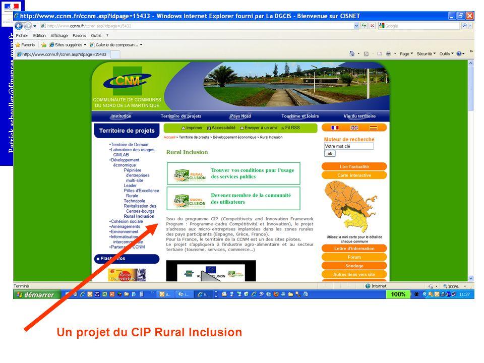 Un projet du CIP Rural Inclusion