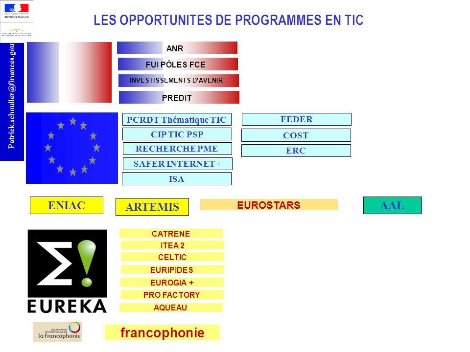 LES OPPORTUNITES DE PROGRAMMES EN TIC