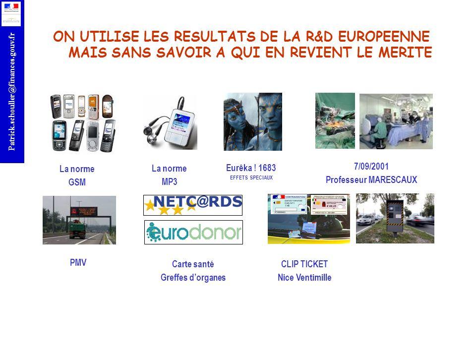 ON UTILISE LES RESULTATS DE LA R&D EUROPEENNE MAIS SANS SAVOIR A QUI EN REVIENT LE MERITE