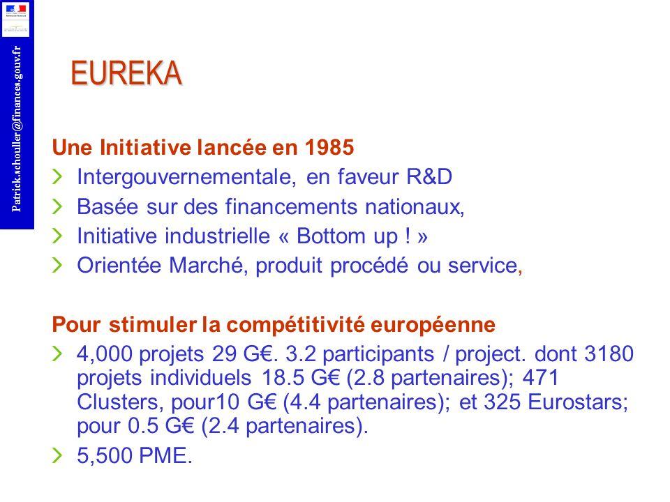 EUREKA Une Initiative lancée en 1985
