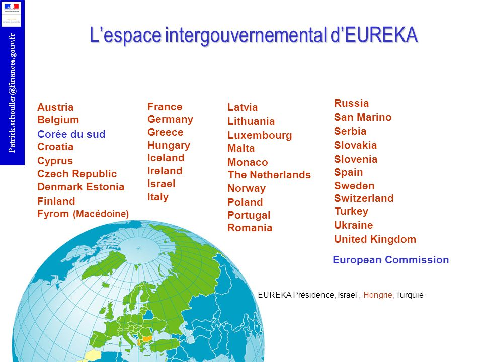 L'espace intergouvernemental d'EUREKA