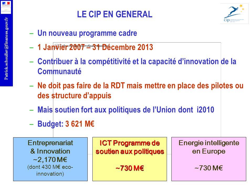 Entreprenariat & Innovation soutien aux politiques