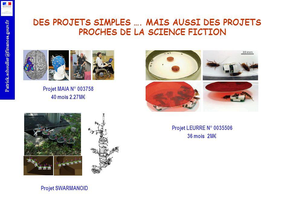 DES PROJETS SIMPLES …. MAIS AUSSI DES PROJETS PROCHES DE LA SCIENCE FICTION
