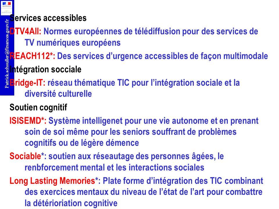 Services accessibles DTV4All: Normes européennes de télédiffusion pour des services de TV numériques européens.